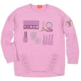 Butter Shoes Girl's Hamptons Sequined Fleece Sweatshirt