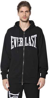 Zip Up Hooded Cotton Sweatshirt