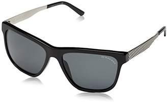 Burberry Women's BE 4163 Wayfarer Sunglasses,Black frame, Gray lens