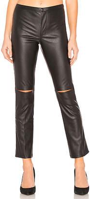 David Lerner Skinny Split Knee Faux Leather Pant