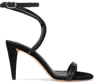 Isabel Marant Abigua Leather And Suede Sandals - Black