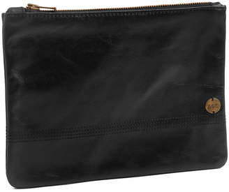 Age Carriers Noir Leather Zip Pouch