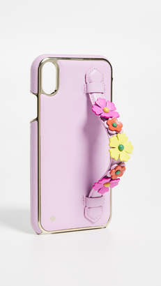 Kate Spade Floral Hand Strap Stand XR iPhone Case