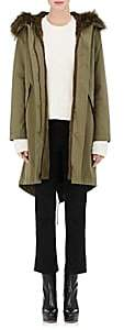 Yves Salomon Army by Women's Fur-Lined Hooded Anorak-387-military