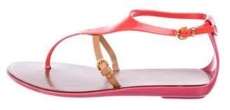 Sergio Rossi Rubber Multistrap Sandals