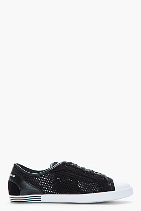 Y-3 Black mesh and leather Plimsoll sneakers