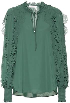 See by Chloe Tie-neck blouse