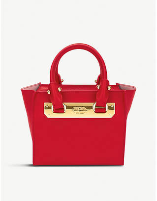 Folli Follie Ladies Red Textured Vibrant Style Code Leather Shoulder Bag