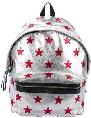 Saint Laurent Classic City California Stars Backpack
