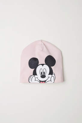 H&M Printed jersey hat - Pink