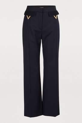 Valentino Wool gabardine pants