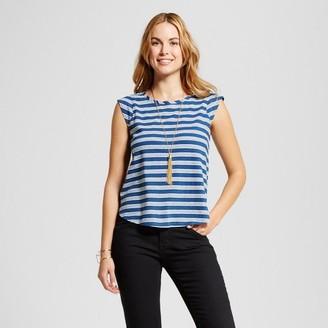 Merona Women's Striped Cap Sleeve Tank - Merona Top - Merona Indigo $12.99 thestylecure.com