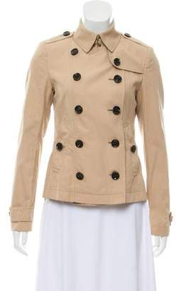 Burberry Double-Breasted Lightweight Jacket