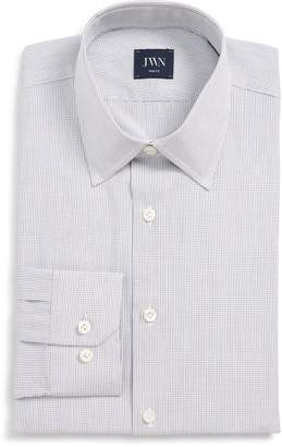 John W. Nordstrom R) Trim Fit Check Dress Shirt