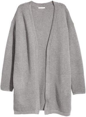 H&M Rib-knit Cardigan - Gray