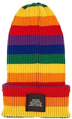Marc Jacobs Women's Striped Rib-Knit Cotton Beanie - Stripe