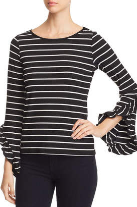 Red Haute Bell Sleeve Top