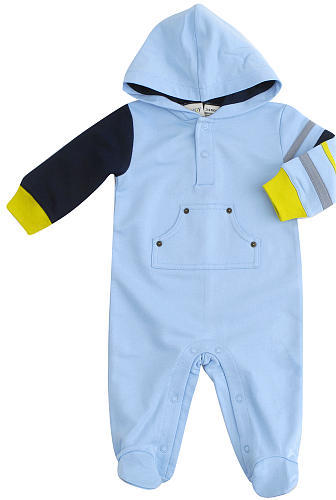 Cynthia Rowley Hip Hip Hoodie Coverall - Light Blue (3-6 Months)
