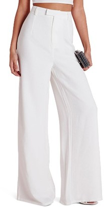 Women's Missguided High Waist Wide Leg Crepe Trousers $62 thestylecure.com