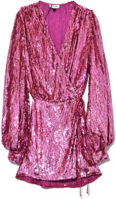 ATTICO All Over Sequins Dress in Pink