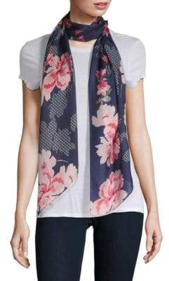 Vince Camuto Blooms Silk Scarf