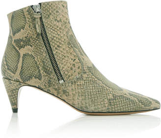 Isabel Marant Deby Snake-Effect Leather Ankle Boots