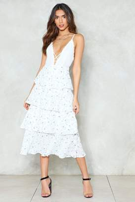 Nasty Gal Shed a Tier Floral Skirt
