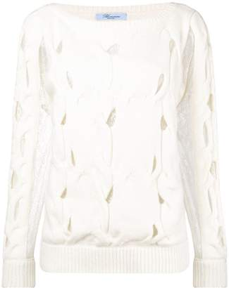 Blumarine cut out cable sweater