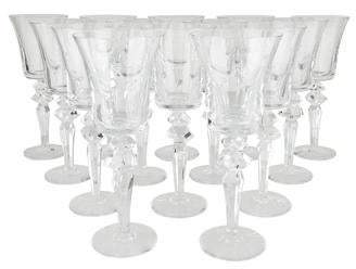 Saint Louis Saint-Louis Set of 14 Excess Clear Water Goblets