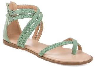 Brinley Co. Womens Comfort Braided Flat Sandal