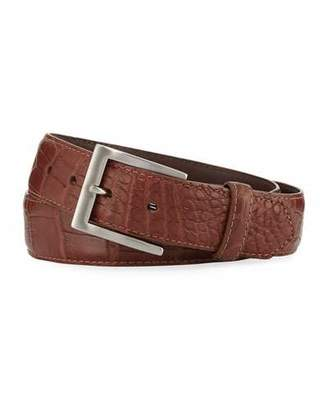 W.KLEINBERG W. Kleinberg Matte Alligator Belt with Interchangeable Buckles