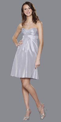 Badgley Mischka Taffeta Empire Bridesmaids Dresses