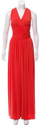 Halston Sleeveless Pleated Maxi Dress w/ Tags