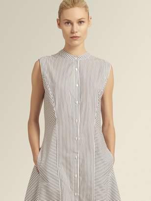 DKNY Striped A-Line Shirt Dress