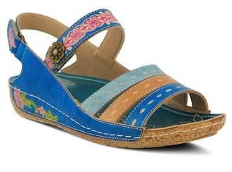 L'ARTISTE Kerry Multi Color Strappy Sandal