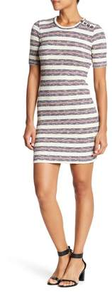 Madewell Stripe Rib Knit Mini Dress