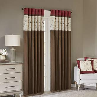 Madison Home USA Serene Blackout Embroide Room-Darkening Window Treatment Curtains 1 Panel with Rod Pocket/Back Tab Drapes for Bedroom and Dorm