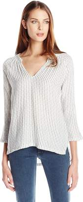 Velvet by Graham & Spencer Women's Double Face Stripe Blouse