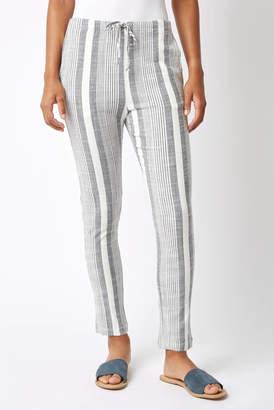 Abbeline Striped Linen Tapered Leg Pant