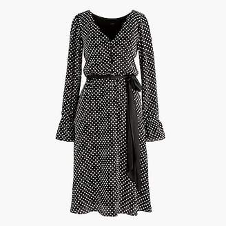 J.Crew Long-sleeve polka dot dress