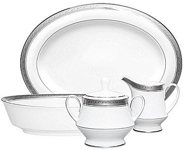 NoritakeNoritake Crestwood Etched Platinum Porcelain 5-Piece Completer Set