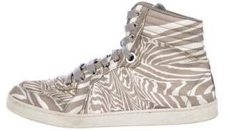 Gucci Animal Printed High-Top Sneakers