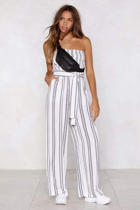 Nasty Gal You Can Bandeau It Striped Jumpsuit