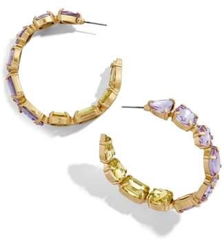 BaubleBar Isadora Crystal Embellished Hoops