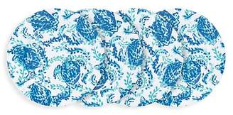 Lilly Pulitzer Kaleidoscope Coral 4-Piece Melamine Plate Set