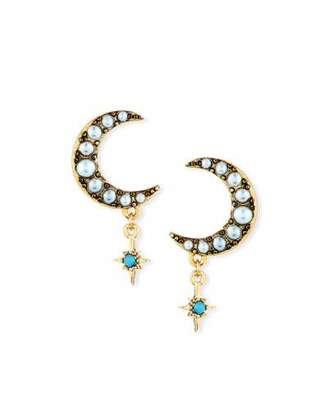 Lulu Frost Tribute Half-Moon Stud Earrings