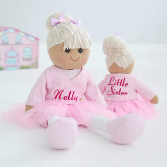 My 1st Years Personalised Big And Little Sister Set