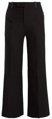 Chloé Cropped Mid Rise Trousers - Womens - Black