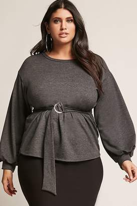 Forever 21 Plus Size Belted Knit Top