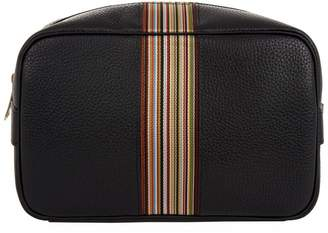 Paul Smith Leather Striped Wash Bag
